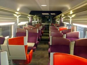 Vagão 2da classe, TGV Lyria