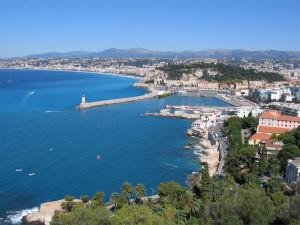 Vista panorâmica de Nice, Riviera Francesal