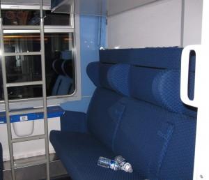 Beliches, compartimento fechado